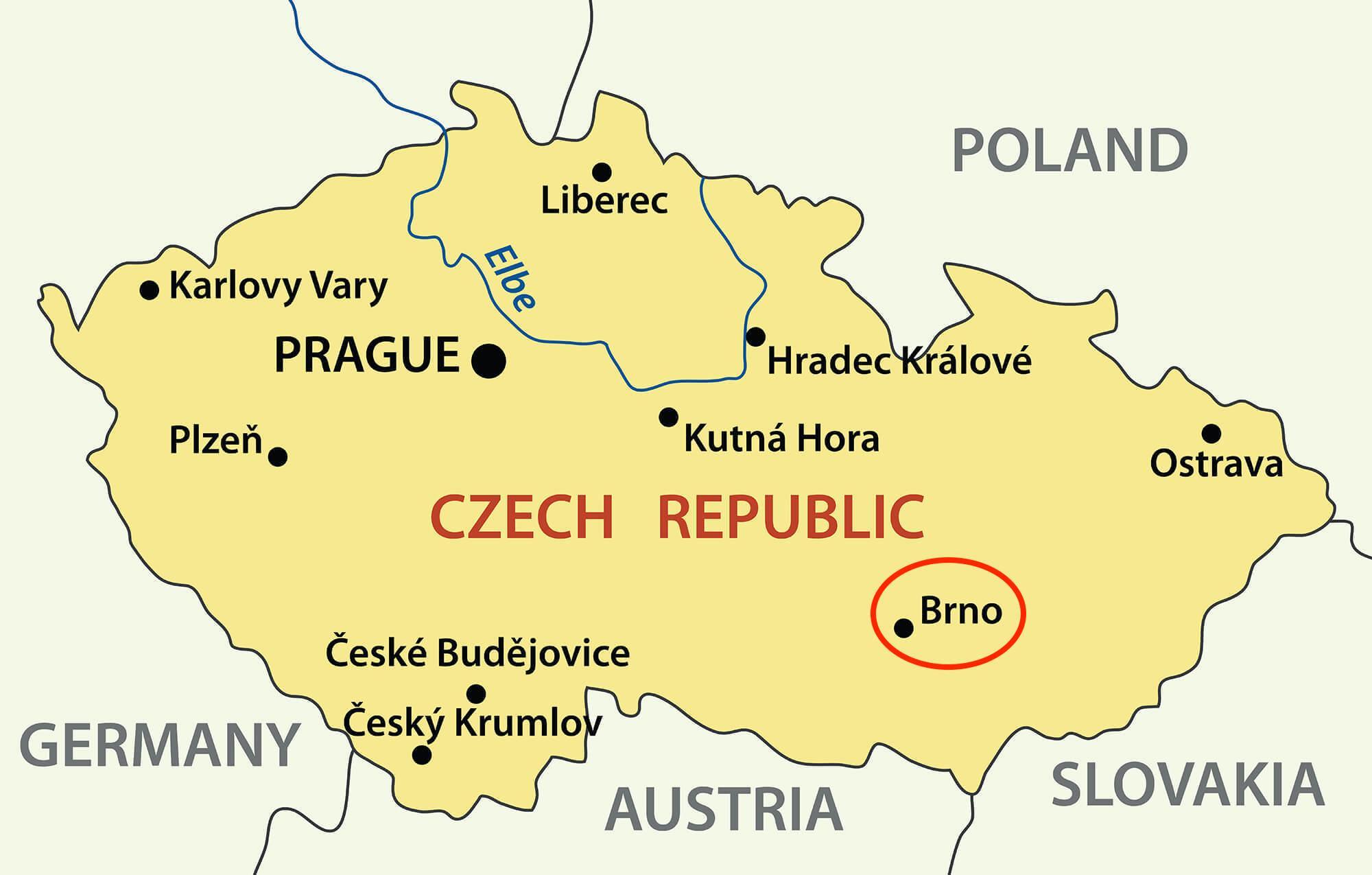 Brno Czech republic map Map of brno Czech republic Eastern Europe