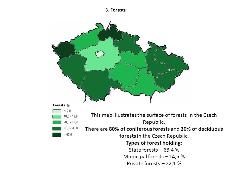 Czech republic forests map - Czechia forests map (Eastern Europe ...