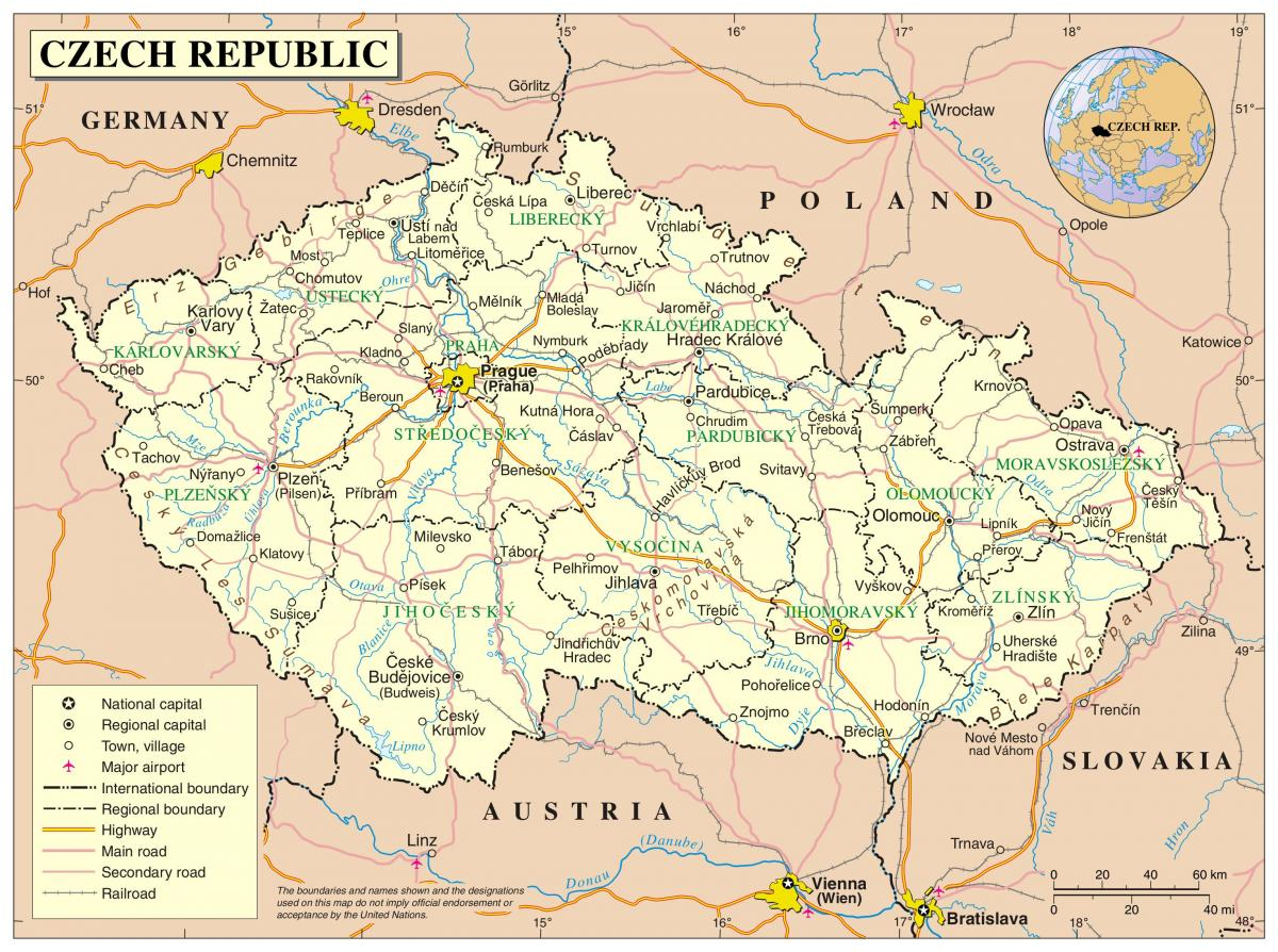 map of Czechia