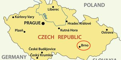 Map of brno Czech republic