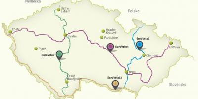Czechia cycling map