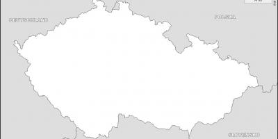 Czechia outline map