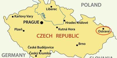 Ostrava Czech republic map Map of Ostrava Czech republic Eastern